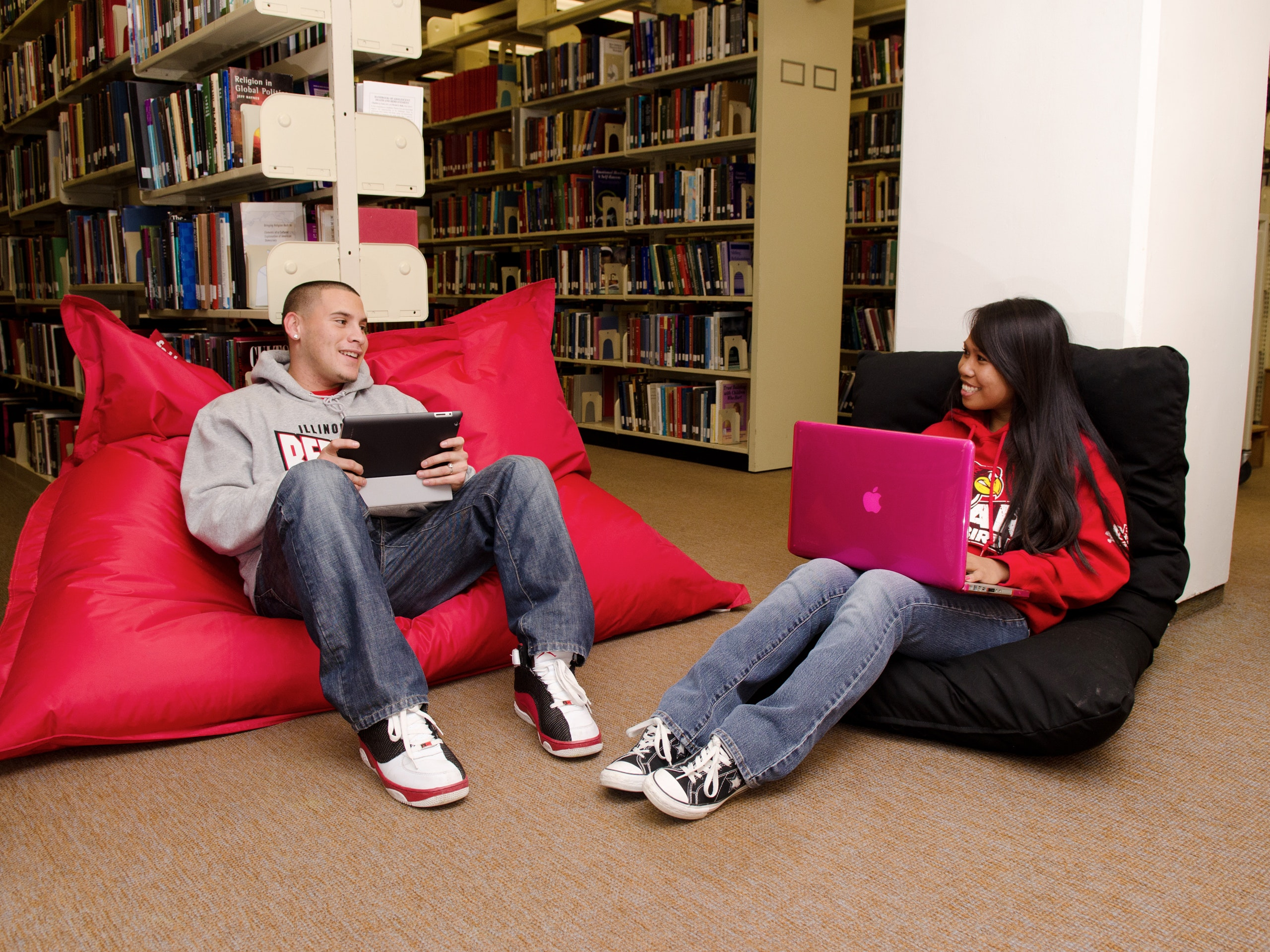Students studying in Milner Library.